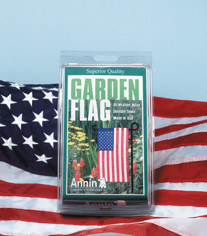 how to put a flag on a garden flagpole