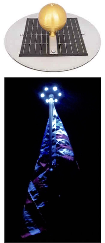 Solar Flag Pole Light Kit Shelly Lighting